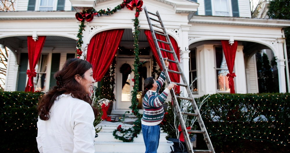 Use These Ladder Safety Tips When Decorating For The Holidays