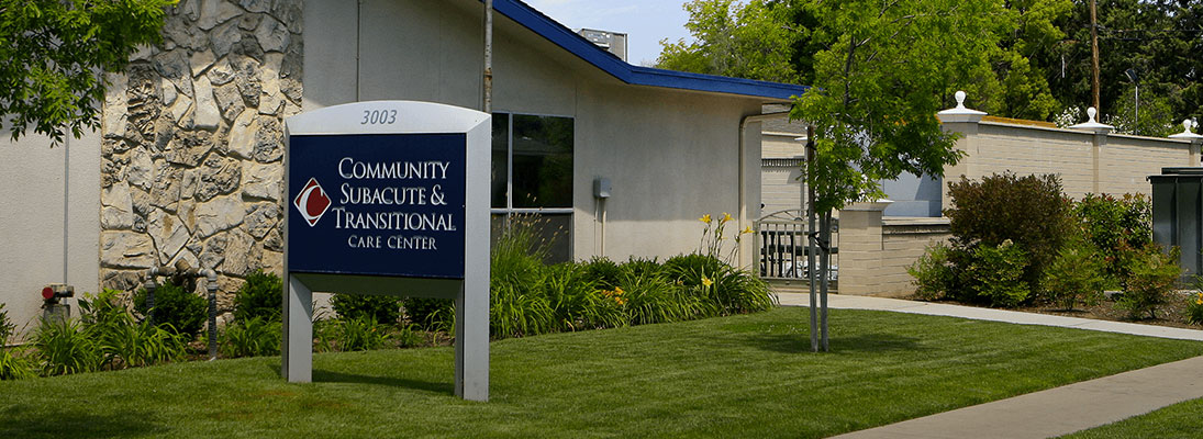 Community Subacute and Transitional Care Center exterior sign