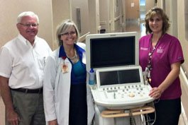 Community Regional's Director of the Diagnostic Medical Sonography Program, Joy Guthrie, (pictured center) credits her team which included Michael Reinhold (left), the program's administrative assistant, and Clinical Coordinator Carla Savoia (right) for helping the program earn accreditation in all four concentrations.