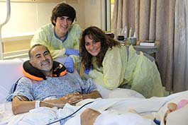 Visalia resident Arthur Villareal was hit on his motorcycle. He poses smiling with his wife, Karen