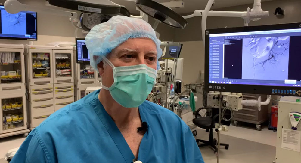 Dr. John Garry in an operating room