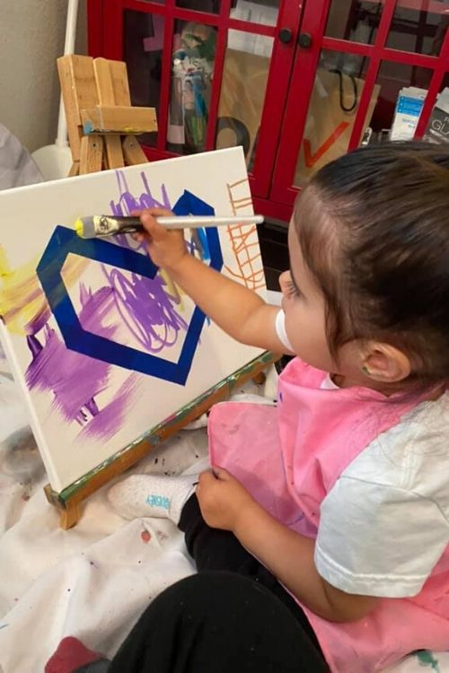2-year old Emmy Lovik's painting of a heart