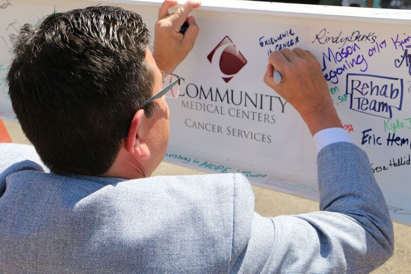 Topping off marks milestone for cancer care in the Valley