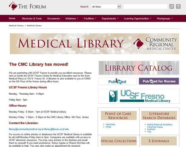 Medical Library is now digital only and physical library has moved